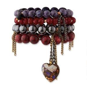 🆕NAKAMOL Heart Bead Layered Bracelet